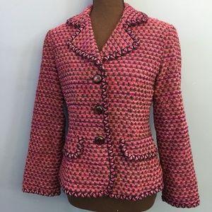 Talbots Tweed Wool-Mohair Blend Blazer
